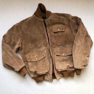VTG Polo Ralph Lauren Suede Leather Bomber Jacket